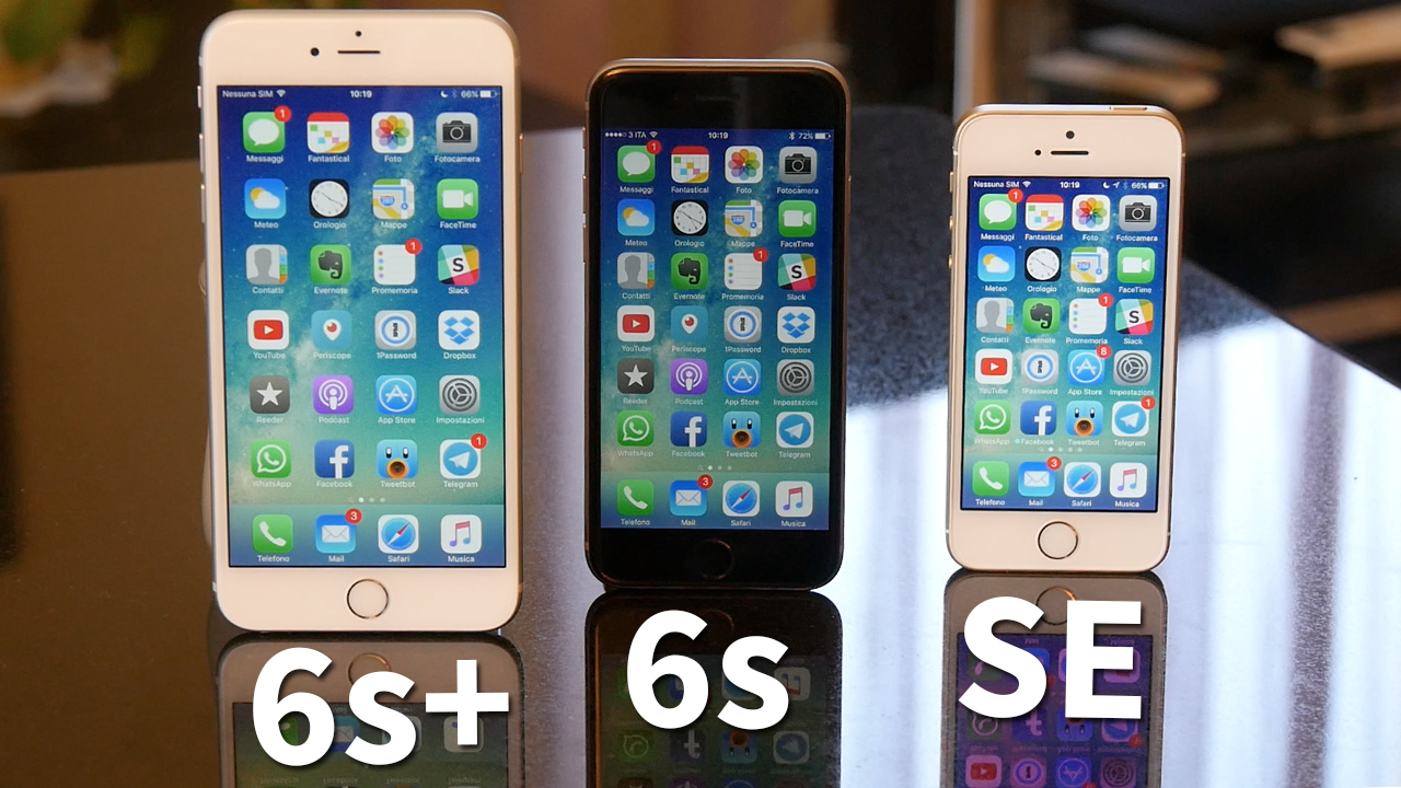 IPHONE SE VS IPHONE 6S PLUS BATTERY