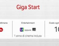 Riparte la Giga Start di Vodafone: 10€ per 5GB di traffico dati e 1 anno di cinema