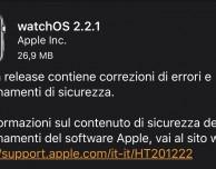 Apple rilascia watchOS 2.2.1 per Apple Watch