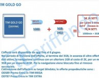 TIM Gold GO: 1000 minuti e 3GB a 7€ ogni 28 giorni
