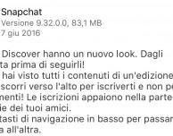 """Snapchat si aggiorna e rinnova la sezione """"Discover"""""""