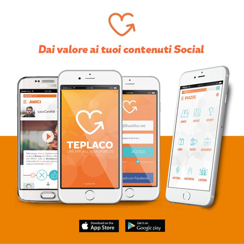 Teplaco, l'app che valorizza i tuoi contenuti