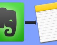 Da Evernote a Note di Apple: ecco come fare