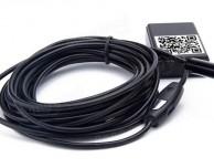 Un endoscopio  con videocamera Wi-Fi da utilizzare con l'iPhone