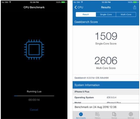 Geekbench 4 disponibile su App Store