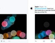 I primi tweet sull'account ufficiale di Apple