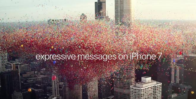 iOS 10 su iPhone 7 dà vita ai messaggi