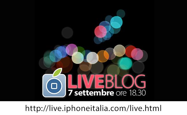 Presentazione iPhone 7: segui il LIVE di iPhoneItalia mercoledì 7 settembre, a partire dalle 18.30