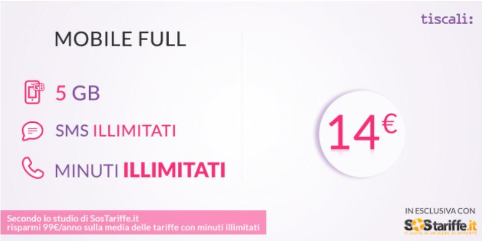 Ultime 24 ore per le esclusive offerte Tiscali Mobile GOLD e Mobile FULL di SosTariffe.it