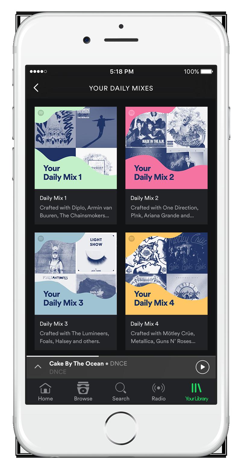 Spotify lancia le playlist Daily Mix