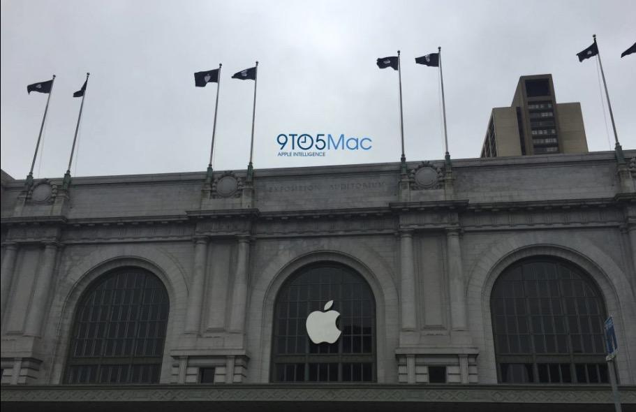 Il Bill Graham Civic Center si fa bello per l'evento Apple