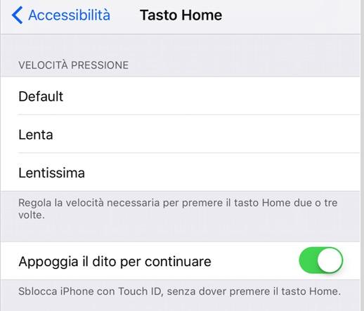 Come sbloccare l'iPhone senza premere sul tasto Home con iOS 10