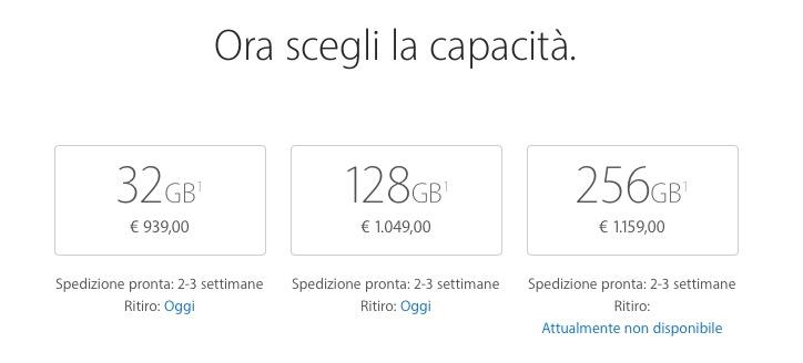 Alcuni iPhone 7 Plus disponibili con ritiro in giornata!