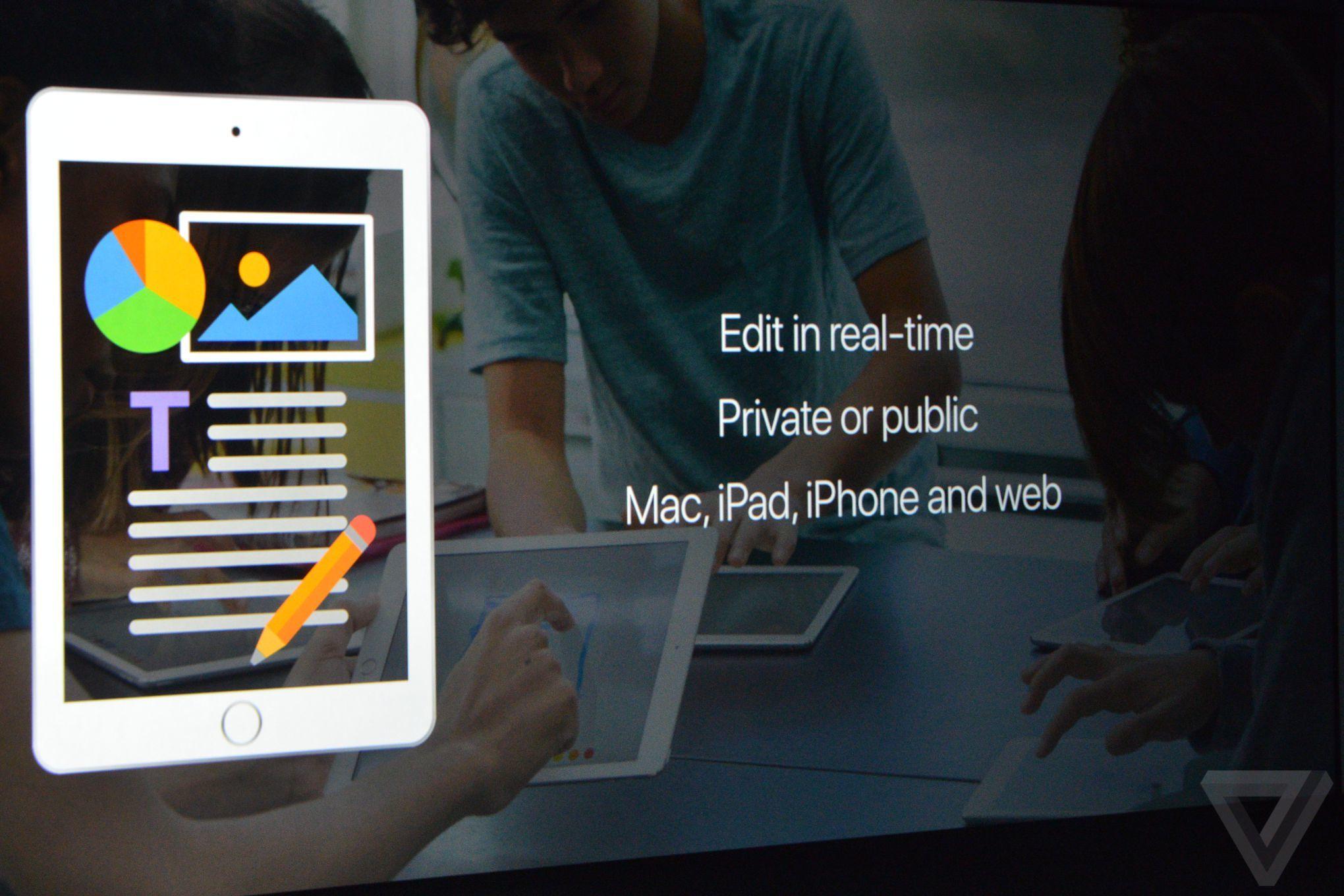 Apple aggiorna iWork introducendo la collaborazione in tempo reale