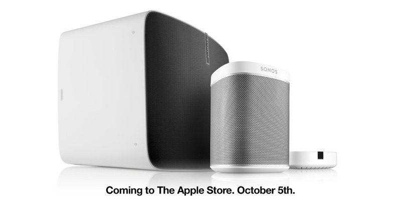 Gli speakers Sonos disponibili negli Apple Store dal 5 ottobre