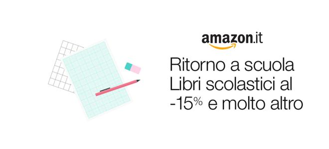 Back to school Amazon: -15% sui libri e tante offerte!