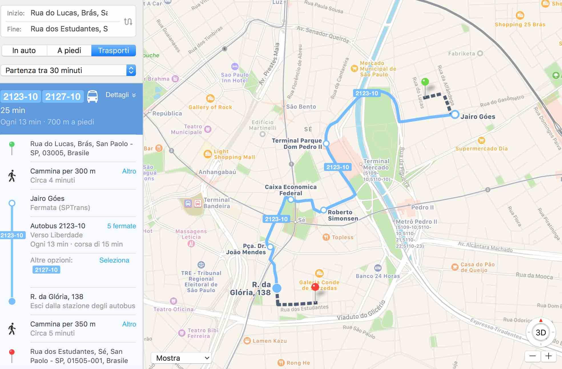 Trasporti: arriva anche Sao Paulo nelle mappe di Apple