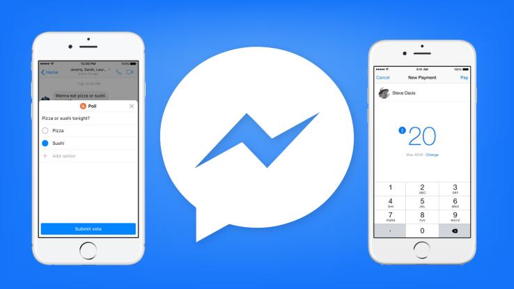 Facebook Messenger aggiunge i sondaggi di gruppo e i suggerimenti per i pagamenti