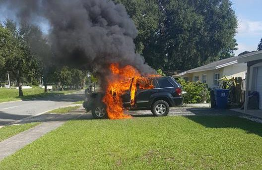 Il Galaxy Note 7 scoppia e fa esplodere una Jeep!