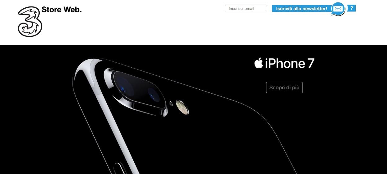 Scopri tutte le offerte Tre per acquistare iPhone 7 e iPhone 7 Plus