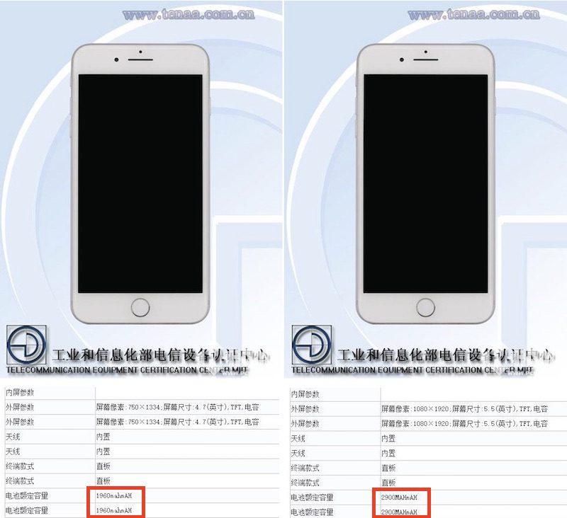 iPhone 7 e iPhone 7 Plus: confermate le caratteristiche tecniche della batteria e della RAM