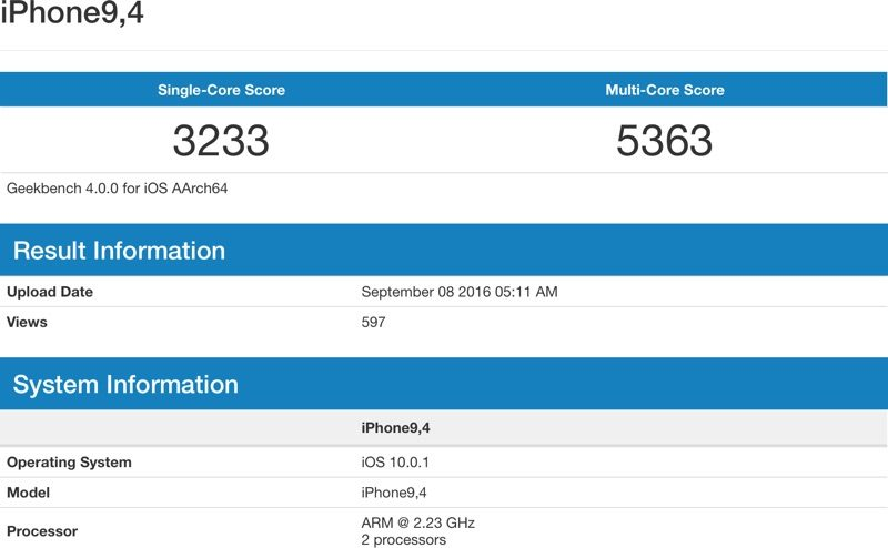 In rete appaiono i primi benchmark del chip A10 Fusion: confermati i 3GB di RAM su iPhone 7 Plus