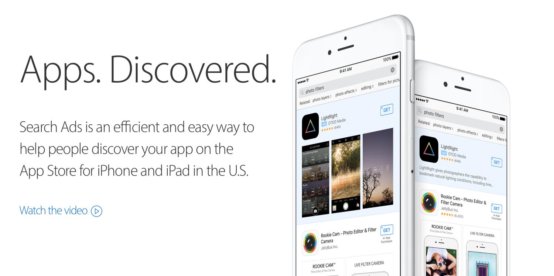 Apple attiva le ricerche sponsorizzate su App Store