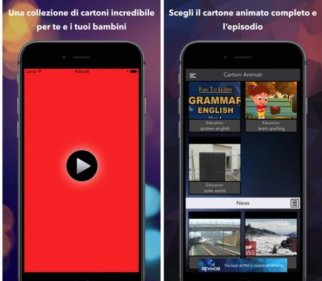 Cartoni animati tube app per intrattenere al volo i più