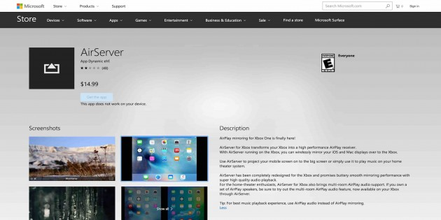 Airserver porta lo streaming airplay su xbox one iphone - Porta server alice iphone ...