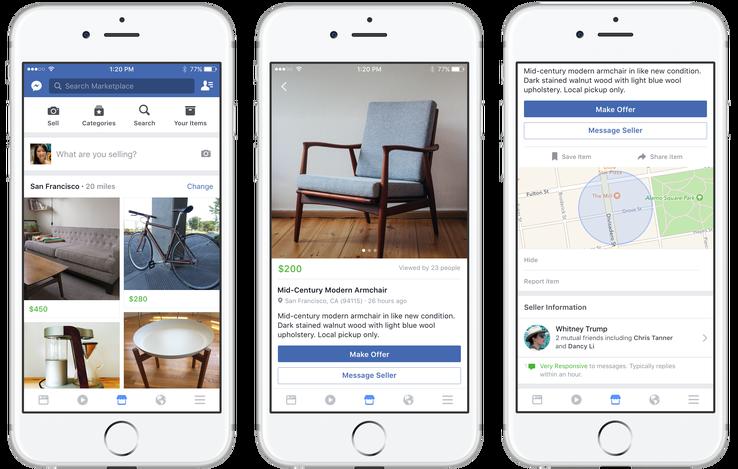 Nasce Facebook Marketplace, la nuova piattaforma per vendere e acquistare oggetti