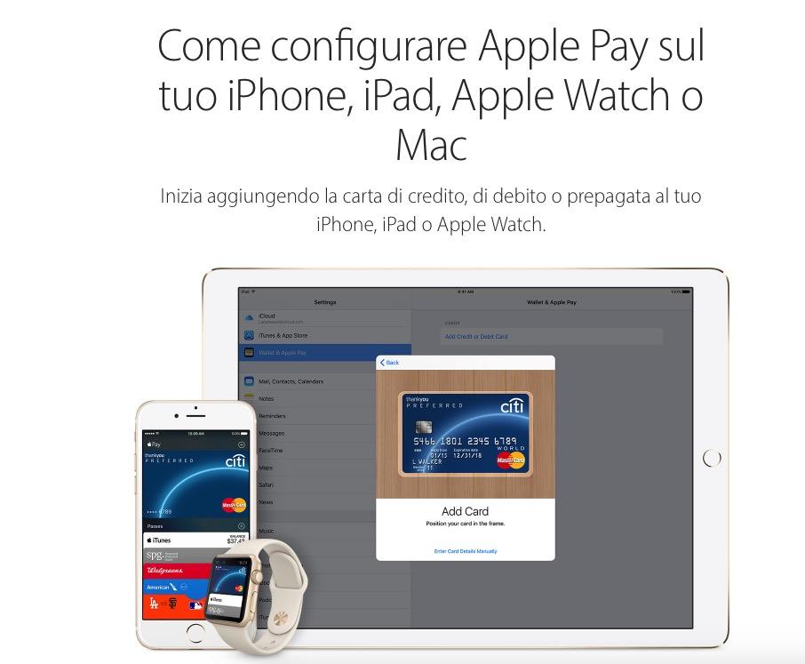 Apple.it ha aperto le pagine web di Apple Pay: si avvicina il lancio in Italia?