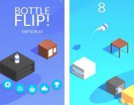 Bottle Flip: fai saltare la bottiglia da un tavolino all'altro