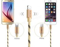 Da Pofan arriva il cavo 2-in-1 in nylon per iOS e Android