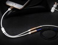 Da Bangodd cavo con doppio jack audio per iPhone 7, lettore di SD Card per iPhone e cavo LIghtning 2-in-1