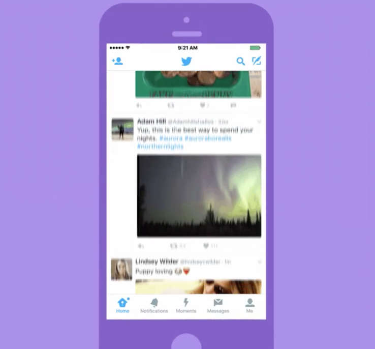 Twitter consente di creare i Moments sugli smartphone