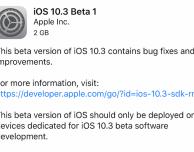 Apple rilascia iOS 10.3 beta 1 per iPhone!