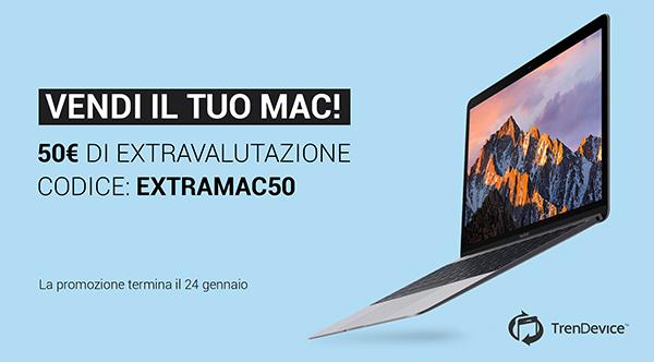 Vendi il tuo Mac su TrenDevice: extravalutazione di 50 euro