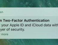 iOS 10.3: Apple suggerisce di abilitare l'autenticazione in due passaggi tramite notifica push