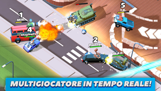 Crash of Cars: divertente videogame multigiocatore in tempo reale