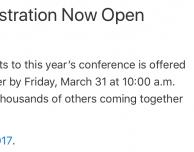 WWDC 2017: dal 31 Marzo aperte le registrazioni!