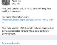Apple rilascia iOS 10.3.2 beta 4, watchOS 3.2.2 beta 4 e tvOS 10.2.1 beta 4 [u]