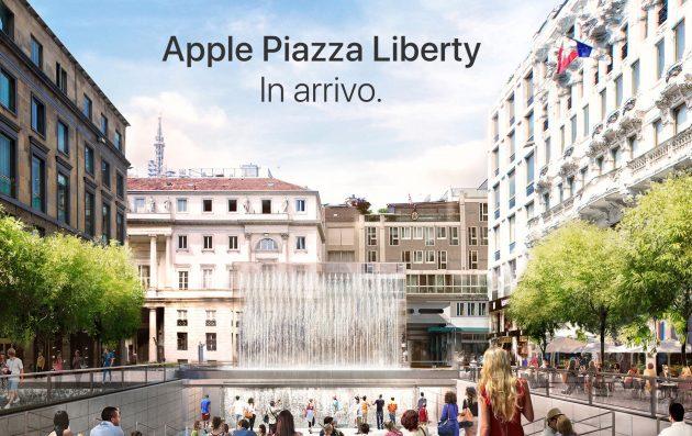 Apple Store, cantiere coperto da un