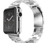 Cinturino Apple Watch in acciaio e custodia in pelle per iPhone 7 Plus a 10€
