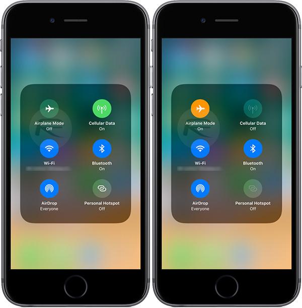 Con iOS 11, la modalità aereo non spegne Bluetooth e Wi-fi!