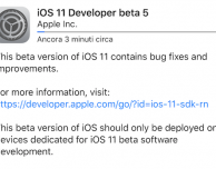 Apple rilascia iOS 11 beta 5!