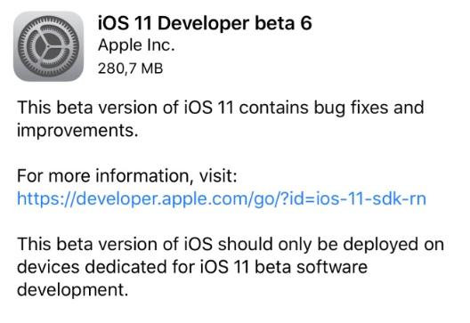 Subito iOS 11 beta 6: quali novità stanno arrivando da Apple