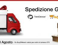 SPEDIZIONE GRATIS su TrenDevice e BuyDifferent, fino al 28 Agosto!