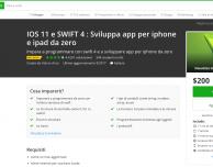 Corso completo su iOS 11 per sviluppare app per iPhone e iPad da zero, scontato a 15 €