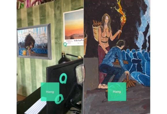 Artupia: vedere le opere d'arte sulla parete di casa con ARKit
