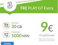 Arriva la PLAY GT7 Extra di H3G: 1.000 minuti e 30 GIGA a 9€ ogni 4 settimane!